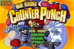 Menu screen of the game Wade Hixton's Counter Punch on Nintendo GameBoy Advance