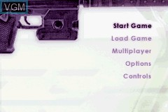 Menu screen of the game Ice Nine on Nintendo GameBoy Advance