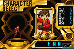 Menu screen of the game Advance Guardian Heroes on Nintendo GameBoy Advance