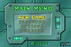 Menu screen of the game Fairly OddParents!, The - Shadow Showdown on Nintendo GameBoy Advance