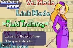 Menu screen of the game Advance Wars on Nintendo GameBoy Advance