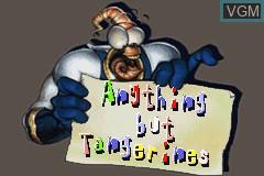 Menu screen of the game Earthworm Jim 2 on Nintendo GameBoy Advance