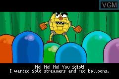 Menu screen of the game Pac-Man World on Nintendo GameBoy Advance