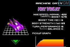 Menu screen of the game F-Zero - Maximum Velocity on Nintendo GameBoy Advance