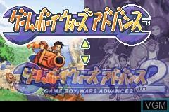 Menu screen of the game Gameboy Wars Advance 1 + 2 on Nintendo GameBoy Advance