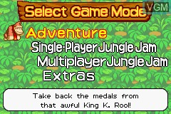 Menu screen of the game DK - King of Swing on Nintendo GameBoy Advance