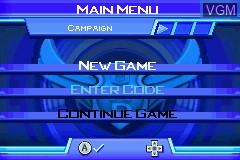 Menu screen of the game Ace Combat Advance on Nintendo GameBoy Advance