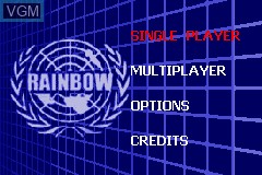 Menu screen of the game Rainbow Six - Rogue Spear on Nintendo GameBoy Advance