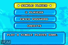 Menu screen of the game Rampage Puzzle Attack on Nintendo GameBoy Advance