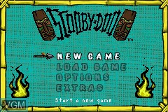 Menu screen of the game Scooby-Doo on Nintendo GameBoy Advance