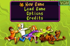Menu screen of the game 2 Games in 1 - Scooby-Doo! - Mystery Mayhem & Scooby-Doo! and the Cyber Chase on Nintendo GameBoy Advance