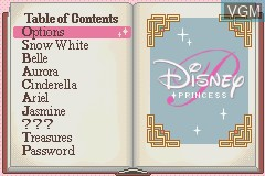 Menu screen of the game 2 Games in 1 - Disney Princess & Lizzie McGuire on Nintendo GameBoy Advance