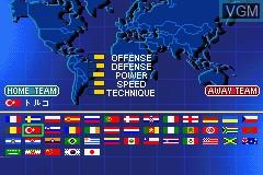 Menu screen of the game Ui-Ire - World Soccer Winning Eleven on Nintendo GameBoy Advance
