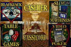 Menu screen of the game 2 Games in 1 - Golden Nugget Casino + Texas Hold 'em Poker on Nintendo GameBoy Advance