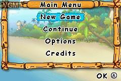 Menu screen of the game 2 Games in 1 - Rugrats - Go Wild + SpongeBob SquarePants - SuperSponge on Nintendo GameBoy Advance