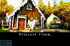 Menu screen of the game 2 in 1 Game Pack - Shrek 2 & Shark Tale on Nintendo GameBoy Advance