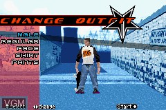 Menu screen of the game 2 in 1 Game Pack - Tony Hawk's Underground + Kelly Slater's Pro Surfer on Nintendo GameBoy Advance