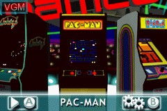Menu screen of the game Namco Museum - 50th Anniversary on Nintendo GameBoy Advance