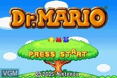 Menu screen of the game Dr. Mario & Panel de Pon on Nintendo GameBoy Advance