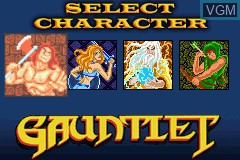 Menu screen of the game 2 Games in One! - Gauntlet + Rampart on Nintendo GameBoy Advance