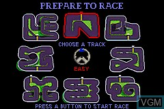 Menu screen of the game 2 Games in One! - Spy Hunter + Super Sprint on Nintendo GameBoy Advance