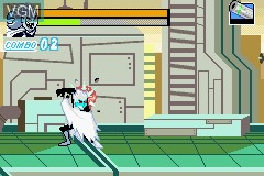 Menu screen of the game Danny Phantom - The Ultimate Enemy on Nintendo GameBoy Advance