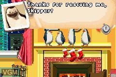 Menu screen of the game Madagascar - Operation Penguin on Nintendo GameBoy Advance