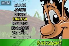 Menu screen of the game 2 Games in 1 - Hugo - Bukkazoom! & Hugo - The Evil Mirror Advance on Nintendo GameBoy Advance