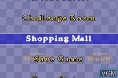 Menu screen of the game Ultimate Arcade Games on Nintendo GameBoy Advance