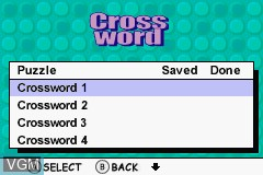 Menu screen of the game Ultimate Puzzle Games on Nintendo GameBoy Advance