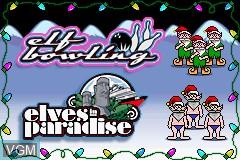 Menu screen of the game Elf Bowling 1 & 2 on Nintendo GameBoy Advance