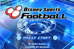 Menu screen of the game 2 Disney Games - Disney Sports - Football + Disney Sports - Skateboarding on Nintendo GameBoy Advance