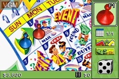 Menu screen of the game 3 Game Pack! - The Game of Life + Payday + Yahtzee on Nintendo GameBoy Advance