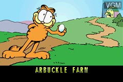Menu screen of the game Garfield and His Nine Lives on Nintendo GameBoy Advance
