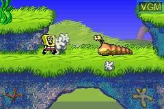 Menu screen of the game 3 Games in 1 - Rugrats - I Gotta Go Party + SpongeBob SquarePants - SuperSponge + Tak and the Power of Juju on Nintendo GameBoy Advance