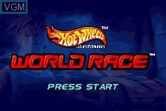 Menu screen of the game 2 Game Pack! - Hot Wheels - Stunt Track Challenge + Hot Wheels - World Race on Nintendo GameBoy Advance