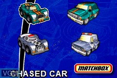 Menu screen of the game 2 Game Pack! - Matchbox Missions - Emergency Response & Air, Land and Sea Rescue on Nintendo GameBoy Advance