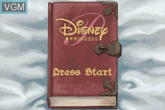 Menu screen of the game 2 Games in 1 - Disney Princess + Brother Bear on Nintendo GameBoy Advance