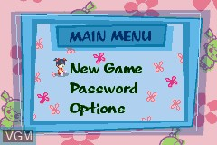 Menu screen of the game 2 Games in 1 - Monsters, Inc. + Finding Nemo on Nintendo GameBoy Advance