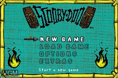 Menu screen of the game 2 Games in 1 - Scooby-Doo + Scooby-Doo 2 - Monsters Unleashed on Nintendo GameBoy Advance