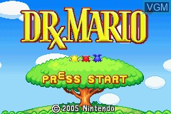 Menu screen of the game 2 Games in One! - Dr. Mario + Puzzle League on Nintendo GameBoy Advance