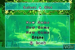 Menu screen of the game 2-in-1 Fun Pack - Shrek 2 + Madagascar on Nintendo GameBoy Advance