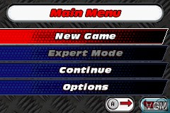 Menu screen of the game Cars - Mater-National Championship on Nintendo GameBoy Advance