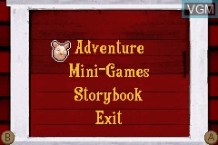 Menu screen of the game Charlotte's Web on Nintendo GameBoy Advance