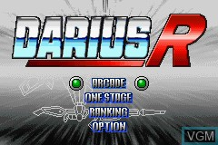 Menu screen of the game Darius R on Nintendo GameBoy Advance