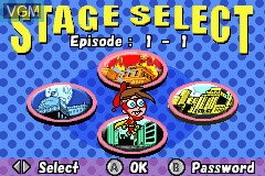 Menu screen of the game Fairly OddParents!, The - Enter the Cleft on Nintendo GameBoy Advance