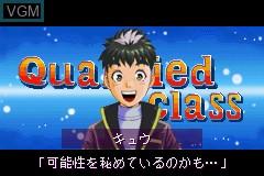 Menu screen of the game Tantei Gakuen Q - Meitantei wa Kimi da! on Nintendo GameBoy Advance