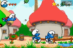 In-game screen of the game Revenge of The Smurfs, The on Nintendo GameBoy Advance