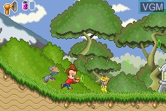 In-game screen of the game Adventures of Jimmy Neutron Boy Genius, The - Jet Fusion on Nintendo GameBoy Advance