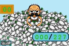 In-game screen of the game Zettaizetsumei Dangerous Jiisan - Shijou Saikyou no Dogeza on Nintendo GameBoy Advance